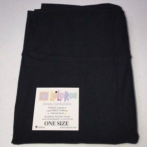 NEW! LULAROE BLACK LEGGINGS OS ONE SIZE NOIR NWT